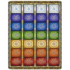 Chakra Ladder Light Tapestry Throw  #yoga #blanket #healing #meditation #home #homedecor #decorating #reiki #spa #salon #healing #chakra