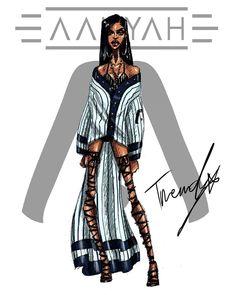 Aaliyah 2018 .1 by TRENDY #aaliyah #aaliyahdanahaughton #aaliyahhaughton #babygirl #TRENDY #2018 #illustration #art