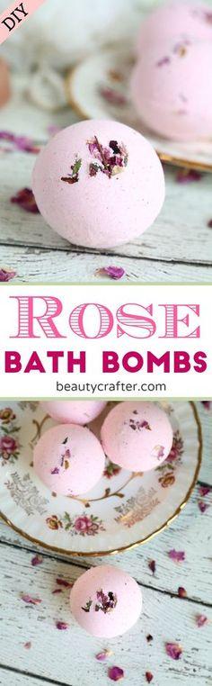 DIY Rose Bath Bombs Recipe