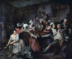 The Rakehell in Fact and Fiction. A Rake's Progress, Hogarth (1732-33). This progress was a series of eight paintings by William Hogarth showing the decline and fall of a man who wastes his money on luxurious living, sex, and…