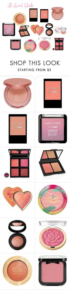 """""""all about blush"""" by ladyolivia721 on Polyvore featuring beauty, tarte, Wet n Wild, e.l.f., Too Faced Cosmetics, Laura Geller, Milani and NYX"""