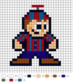 Balloon Boy Perler Bead Pattern (Five Nights at Freddy's)