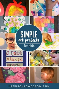 I'm sharing some simple and fun back to school art projects that kids can make, whether they're at home or in the classroom! Easy Art Projects, School Art Projects, Projects For Kids, Diy For Kids, Gross Motor Activities, Outdoor Activities For Kids, Preschool Activities, Back To School Art, Art School