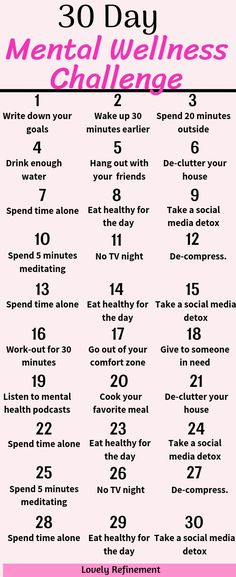 Are you ready to improve your mindset?! Take this 30 day mental wellness challenge and see your life improve quickly. Mental wellness tips and tricks. #mentalhealth #personalgrowth #30daychallenge #healthyliving
