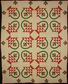 another nice basket quilt--circa1880