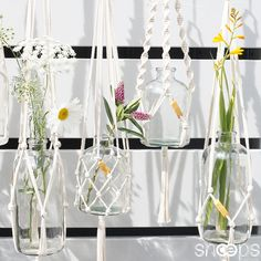 Snoeps #Macrame #hangers #terrace #summer #flowers #shadows #breeze
