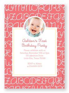 1st Birthday Party Invitation | Folded Words