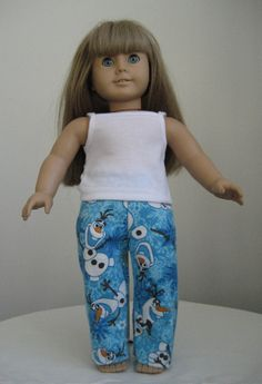 American Girl Doll Clothes Frozen Olaf Flannel by DesignsbyDoreen