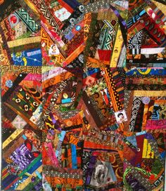Dream Like Crazy art quilt by OVBrantleyQuilts on Etsy, $1500.00