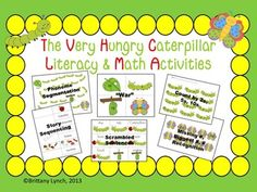 Enjoy this bundle of literacy and math activities with The Very Hungry Caterpillar theme.