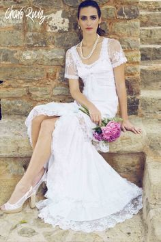 Bolero belongs to Voile & Guipur Charo Ruiz collection. Our fashion is made in our island with top-tier fabrics and natural finishes. Charo Ruiz enhances the female beauty from the heart of Ibiza since Ibiza, Textiles Y Moda, Charo Ruiz, Look Boho, Chara, Beauty Women, Bride, Female, Wedding Dresses