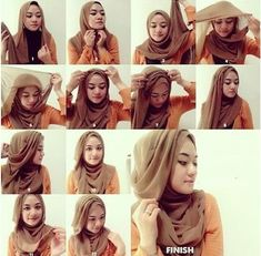 Looking for ideas on how to wear hijab elegantly? Or just a Simple Hijab Tutorial? Or perhaps you want tips to style hijab for a beautiful look? Well, we understand that Hijab fashion is at its peak these days. Square Hijab Tutorial, Simple Hijab Tutorial, Hijab Simple, Hijab Style Tutorial, Turban Tutorial, Hijab Chic, Stylish Hijab, Muslim Dress, Hijab Dress