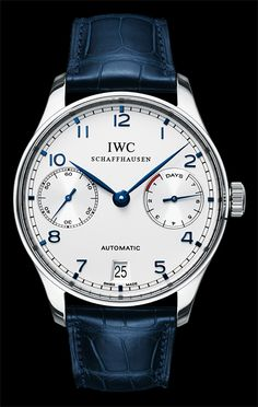 IWC - Portugieser Automatic, ref.IW500705 - Self-winding, cal.52010, 4Hz, 7dd p.r., power reserve indicator, date - 42.3mm, steel case, silver-plated dial ~9k
