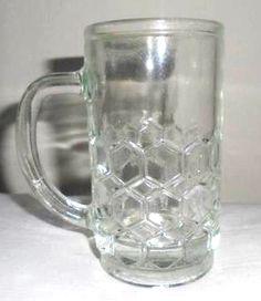 """""""Honey"""" glass mug - Hungarian retro"""