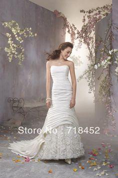 >> Click to Buy << New Fashion Sheath Wedding Dress with Flower Taffeta and Organza  Free Shipping GW757 #Affiliate