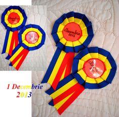 Materiale didactice de 10(zece): Cocardă pentru Ziua României Diy And Crafts, Crafts For Kids, 1 Decembrie, Handmade, Decor, Ideas, Party, Badges, Manualidades
