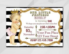 #Princess Baby Doll #Birthday #invitation, Vintage Girl,Instant Download Editable PDF, It's fast and easy!Download, personalize and print or send online your own invitation... #birthday #black #princess #stripe #vintage #white ➡️ http://digiinvites.com/products/vintage-girl-birthday-invitation-c029-4?utm_campaign=products&utm_content=e3c9bb1b24154a9b8940409b559bfd4a&utm_medium=pinterest&utm_source=sellertools