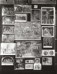 the question of anachronism is obviously central in Warburg's thought: in Mnemosyne, he develops a non-linear vision of history, juxtaposing an image of a zeppelin from a newspaper clipping with a medieval map of the sky, or associating the figure of a golf player with the image of Judith beheading Holofernes.