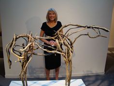 HAPPY BIRTHDAY Deborah Kay Butterfield (born May 7, 1949) is an American sculptor. Along with her artist-husband John Buck, she divides her time between a ranch in Bozeman, Montana and studio space in Hawaii. She is known for her sculptures of horses made from found objects, like metal, and especially pieces of wood