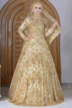 hijab dresses for wedding Muslim Wedding Gown, Muslimah Wedding Dress, Wedding Dresses For Girls, Pakistani Wedding Dresses, Pakistani Outfits, Bridal Dresses, Bridal Hijab, Hijab Bride, Hijab Dress