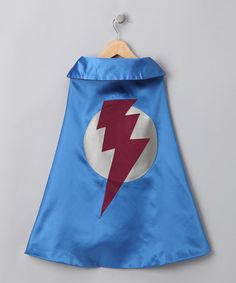 Take a look at this Blue & Cranberry Lightning Leader Two-Ply Cape by Little Hero Capes on #zulily today!