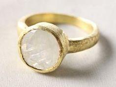 handmade moonstone ring