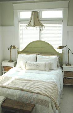 French Country Bedroom Sets and Headboards: Bedding and Accent Pillows Country Bedroom Design, Farmhouse Bedroom Furniture, Farmhouse Style Bedrooms, French Country Bedrooms, Farmhouse Master Bedroom, Master Bedroom Design, Country Decor, Bedroom Designs, Country Chic