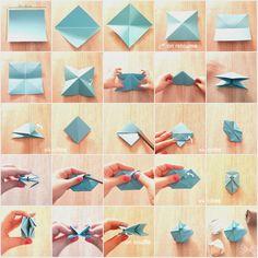 origami facile guirlande