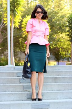 green and pink for fall