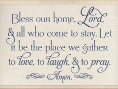 Christian wall Decals - Bless Our Home, Lord, CODE Christian Wall Decal. God Prayer, Prayer Quotes, Bible Quotes, Motivational Quotes, Inspirational Quotes, Christian Wall Decals, I Look To You, Vinyl Wall Quotes, Printable Bible Verses