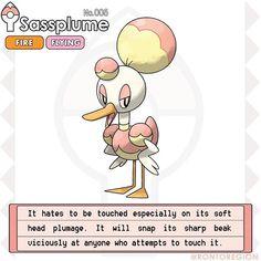 "RONTO DEX 005. Sassplume Type: Fire/Flying Species: The sassy duck pokémon Abilities: Flame body/Flash Fire H: 2' 10"" W: 9.6 lbs #fakemon #pokemon #pokedex #pokemonart #fakemonstarter #firestarter #firetype #firepokemon #ronto #rontoregion"