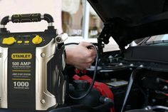 Charging a car battery using the Stanley J509 500 Amp Jump Starter http://jumpstartersguide.com/stanley-j509-500-amp-jump-starter-review/
