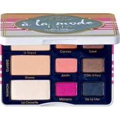 Too Faced A La Mode Eyes Summer 2014 Collection - just ordered my fourth Too Faced eyeshadow palette! I thought the colors were unique and this will be great for spring/summer!
