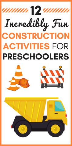 12 Incredibly Fun Construction Activities for Preschoolers - Cynical Parent Construction Theme Preschool, Construction Crafts, Construction For Kids, Construction Birthday Parties, Preschool Songs, Preschool Themes, Preschool Lessons, Preschool Binder, Preschool Age
