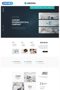 This Pharmaceutical Company Modern Landing Page Template is a fast and reliable landing website template designed for promoting pharmaceutical resources. Website Color Schemes, Website Themes, Website Designs, Business Website Templates, Restaurant Website Templates, Web Layout, Page Layout, Design Layouts, App Landing Page