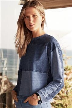 Buy Indigo Patch Top online today at Next: United States of America