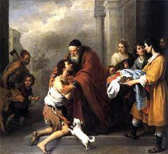 """""""El retorno del hijo pródigo"""", 1667 - 1670, Bartolomé Esteban Murillo, Galería Nacional de Arte, Washington."""