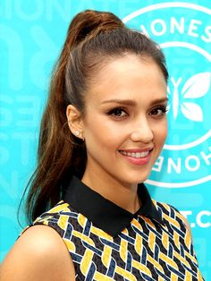 HIGH RETRO PONY Jessica Alba