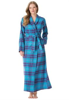 9b3ff96e4f Plus Size Softest flannel robe Plus Size Sleepwear