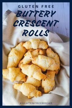 Gluten Free Crescent Rolls: Delicious, only 7 ingredients and incredibly easy to make! #glutenfreebread #glutenfreerecipes #glutenfreerolls #glutenfreesides #glutenfreedinner