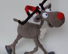 Caro 060 renna con accessori Crochet Pattern PDF di LittleOwlsHut