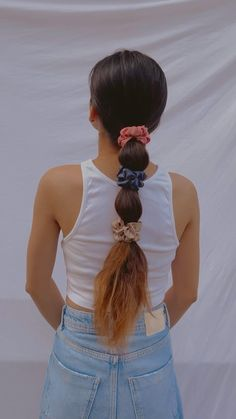 Bun Hairstyles For Long Hair, Scarf Hairstyles, Cute Hairstyles, Front Hair Styles, Medium Hair Styles, Curly Hair Styles, Hair Tips Video, Hair Videos, Hair Style Vedio