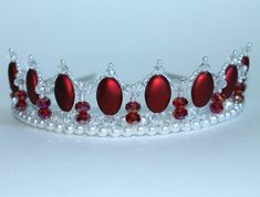 Beautiful Red Oval Crystal and Pearl Princess by CreativeCalling1