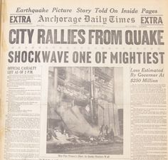 Today (3/27/14) is the 50th Anniversary of the Great Alaska Earthquake and Tsunamis.