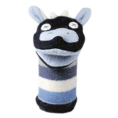 HAND PUPPET - COW    MATERIAL: reclaimed wool SIZE: 12 tall     Since each item is One Of A Kind, let us surprise you with one that is totally unique    This Collection is HAND MADE in Toronto, Canada.     Height:  12 inches