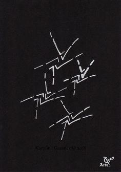 Opposites - Gassner - ink painting on black paper - cm in a cm mount Group Art, Ink Drawings, Black Paper, Ink Painting, A4, Paintings, Abstract, Etsy, Summary