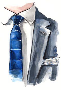 Week of EJ Samson   fashion illustration at DailyFashionProject.com