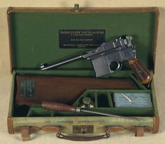Mauser Broomhandle in box. Loading that magazine is a pain! Get your Magazine speedloader today! http://www.amazon.com/shops/raeind