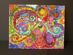 Crayon Project - Use a box of 64 crayons in an atypical ways