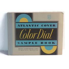 1934 COLOR DIAL Atlantic Paper Sample Book, Art Deco Design Graphics Typography by BatnKatArtifacts on Etsy